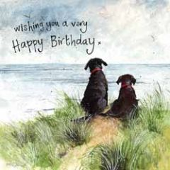 wenskaart alex clark - wishing you a very happy birthday - honden
