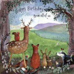 wenskaart alex clark - happy birthday - dieren