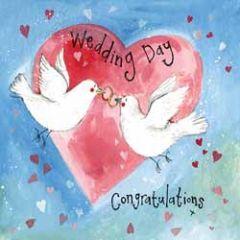 wenskaart alex clark - wedding day - duiven