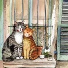 wenskaart alex clark - katten