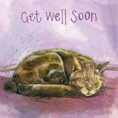 beterschapskaart alex clark - get well soon - kat