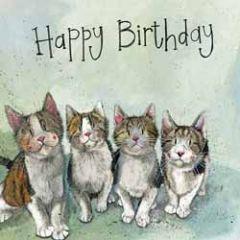 wenskaart alex clark - happy birthday - katten