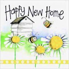 wenskaart alex clark - happy new home - bijen