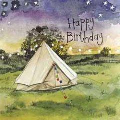 verjaardagskaart alex clark - happy birthday - tent