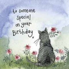 wenskaart alex clark - to someone special on your birthday - kat