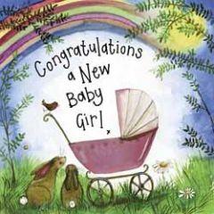 geboortekaart alex clark - a new baby girl - kinderwagen