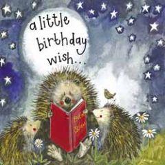 verjaardagskaart alex clark - a little birthday wish - egels