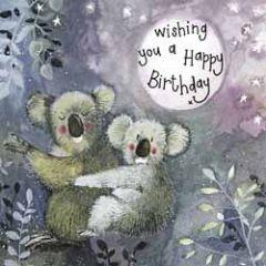 verjaardagskaart alex clark - wishing you a happy birthday - koala's
