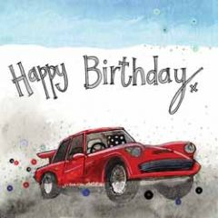 verjaardagskaart alex clark - happy birthday - auto