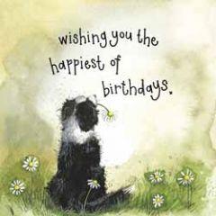 verjaardagskaart alex clark - wishing you the happiest of birthdays