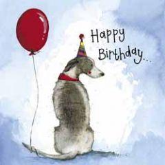 verjaardagskaart alex clark - happy birthday - hond