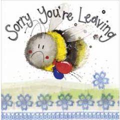 wenskaart alex clark - sorry you're leaving - bij