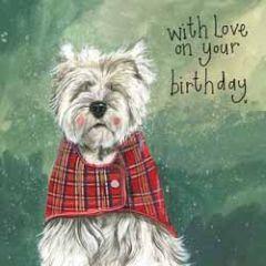 verjaardagskaart alex clark - with love on your birthday - hond