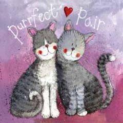 wenskaart alex clark - purrfect pair - katten