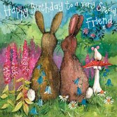 verjaardagskaart alex clark - happy birthda to a very special friend - konijnen