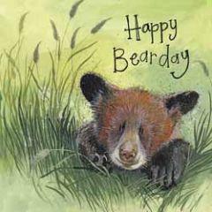 verjaardagskaart alex clark - happy bearday - beertje