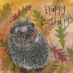 verjaardagskaart alex clark - happy birthday - egel