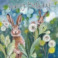 verjaardagskaart alex clark - happy birthday - konijnen