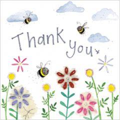 wenskaart alex clark - thank you - bijen
