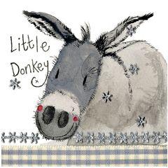 kerstkaart alex clark - little donkey  - ezel
