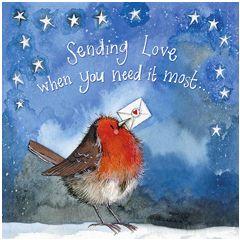 kerstkaart alex clark - sending love when you need it most...