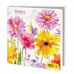 10 wenskaarten voor amnesty international - bloemen