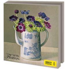 10 wenskaarten voor amnesty international - bloem stillevens
