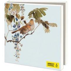 10 wenskaarten voor amnesty international - aziatische vogels