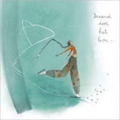 vierkante ansichtkaart met envelop - anne-sophie rutsaert - dansend door het leven