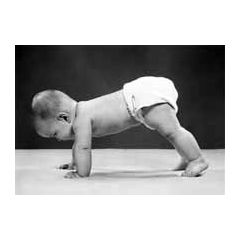 ansichtkaart  zwart-wit 1950 - baby