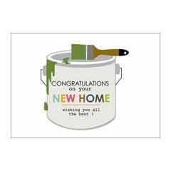 ansichtkaart nieuwe woning - congratulations on your new home - verf