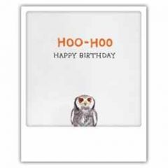 ansichtkaart instagram pickmotion - hoo-hoo happy birthday - uil