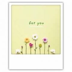 ansichtkaart instagram pickmotion - for you - bloemen