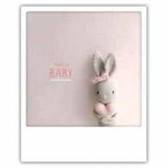 ansichtkaart instagram pickmotion - hello baby - konijntje