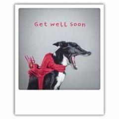 ansichtkaart instagram pickmotion - get well soon - hond