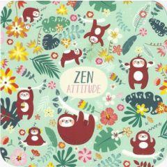 vierkante ansichtkaart met envelop - lali - zen attitude