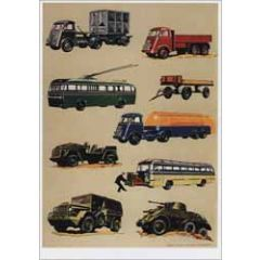 ansichtkaart - voertuigen