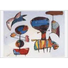 ansichtkaart Karel Appel - lentezee