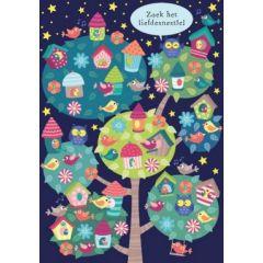 ansichtkaart - lali - zoekplaatje - zoek het liefdesnestje