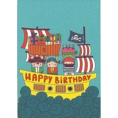 ansichtkaart correspondances - happy birthday - piraten