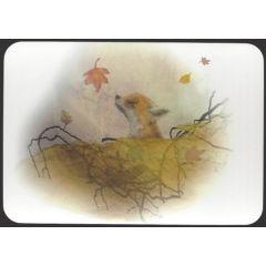 ansichtkaart jenny bakker - vos