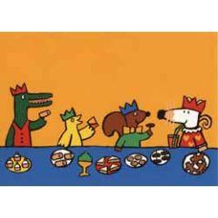 ansichtkaart muis - feestje