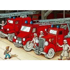 ansichtkaart - brandweer