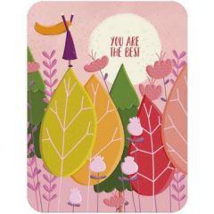 ansichtkaart correspondances - you are the best - meisje op bomen