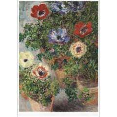 ansichtkaart - claude monet - anemonen in potten