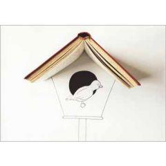 ansichtkaart cintascotch - boekhuisje en vogel