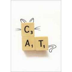 ansichtkaart cintascotch - cat scrabble