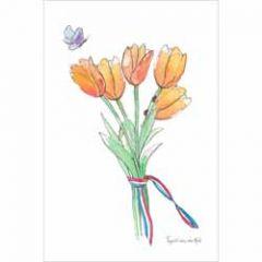 ansichtkaart nederland - tulpen