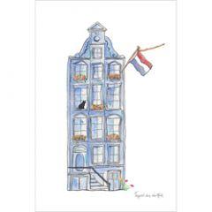 ansichtkaart nederland - grachtenpand
