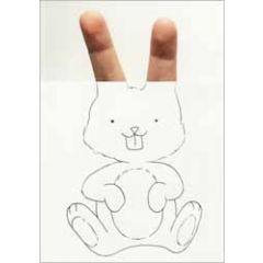 ansichtkaart cintascotch - handrabbit - konijn